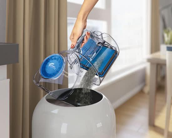 stofzuiger zonder zak weggooien